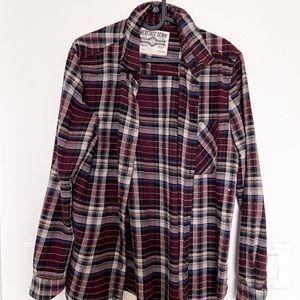 Oversized Boyfriend Flannel Shirt | Vintage Denim